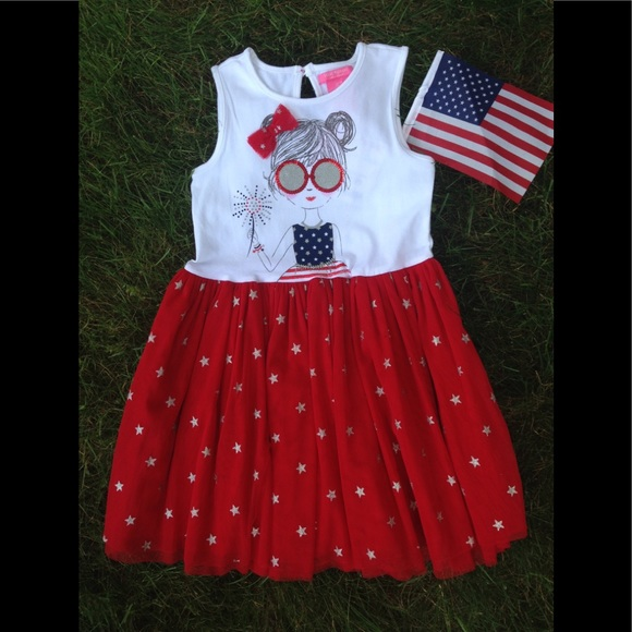 Nwt Toddler Girls Labor Day Dress Size 3t Nwt
